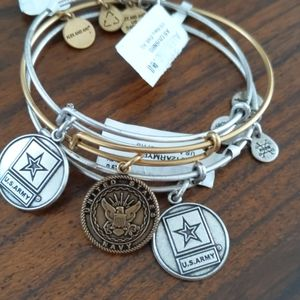 Army and Navy Alex and Ani Charm Braclets
